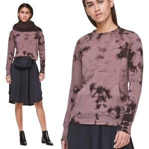 LULULEMON Scuba Crew Tie Dye Long Sleeve Top Size 6